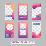 Κοινωνικό σχέδιο ιστοριών δικτύων, κάθετα έμβλημα ή πρότυπα ιπτάμενων Σύνολο minimalistic ιστοριών για τα κοινωνικά μέσα στοκ φωτογραφία