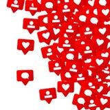 Κοινωνικό σχέδιο μέσων Στοκ Εικόνες