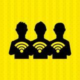Κοινωνικό σχέδιο δικτύων Στοκ Εικόνες