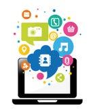 Κοινωνικό σχέδιο μέσων ελεύθερη απεικόνιση δικαιώματος