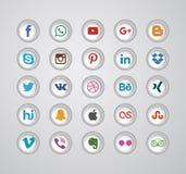 Κοινωνικό σύνολο εικονιδίων μέσων Στοκ φωτογραφία με δικαίωμα ελεύθερης χρήσης