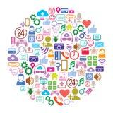 Κοινωνικό υπόβαθρο μέσων του σχεδιαγράμματος εικονιδίων απεικόνιση αποθεμάτων