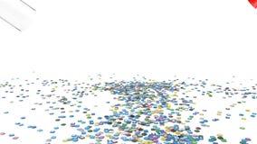 Κοινωνικό χάπι μέσων με τα κοινωνικά εικονίδια μέσων απεικόνιση αποθεμάτων