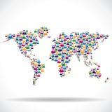Κοινωνικό δίκτυο γύρω από την παγκόσμια έννοια Στοκ φωτογραφία με δικαίωμα ελεύθερης χρήσης