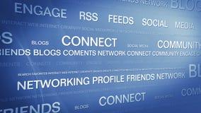 Κοινωνικό networking_connection μέσων backgorund 4K διανυσματική απεικόνιση