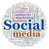 κοινωνικό wordcloud μέσων