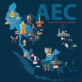 Κοινότητα οικονομικών της ASEAN (AEC) Στοκ Εικόνες