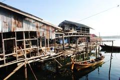 Κοινότητα ψαράδων στην Ταϊλάνδη Στοκ Εικόνα