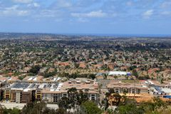 Κοιτάζοντας έξω πέρα από την κοιλάδα, Σαν Ντιέγκο, Καλιφόρνια, 2016 Στοκ Εικόνες