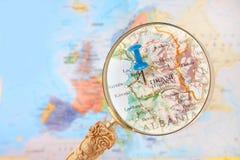 Κοιτάζοντας μέσα στα Τίρανα, Αλβανία Στοκ Φωτογραφίες