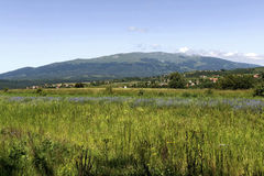 Κοιτάξτε Vitosha στο βουνό από Plana Στοκ εικόνες με δικαίωμα ελεύθερης χρήσης