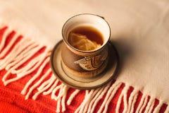 κοιλάνετε το τσάι λεμονιών Στοκ εικόνα με δικαίωμα ελεύθερης χρήσης