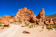 Κοιλάδα βράχων, Βολιβία Στοκ Εικόνα