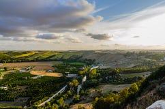 Κοιλάδα κοντά Arcos de στο Λα Frontera, Ισπανία Στοκ Εικόνες