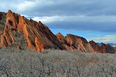 κοιλάδα κόκκινου ψαμμίτη πάρκων της Νεβάδας σχηματισμών πυρκαγιάς κρατική στοκ εικόνα με δικαίωμα ελεύθερης χρήσης