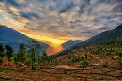 Κοιλάδα Νεπάλ του Κατμαντού Kalinchok Στοκ Φωτογραφία