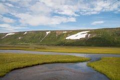 Κοιλάδα παγετώνων στο δυτικό μέρος της Ισλανδίας Στοκ Εικόνες