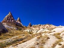 Κοιλάδα περιστεριών, Uçhisar, Cappadocia, Τουρκία Στοκ Εικόνες
