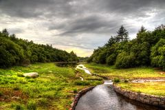 κοιλάδα ποταμών στοκ φωτογραφίες