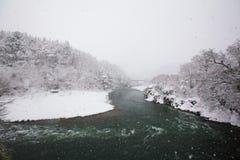 Κοιλάδα ποταμών Shogawa Στοκ Εικόνα