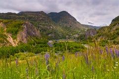 Κοιλάδα ποταμών Simpson, Παταγωνία, Χιλή Συννεφιάζω ημέρα στοκ φωτογραφία με δικαίωμα ελεύθερης χρήσης