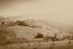 Κοιλάδα στα Apennines βουνά Στοκ φωτογραφία με δικαίωμα ελεύθερης χρήσης