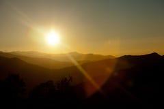 Κοιλάδα στο βουνό ΝΕΠΑΛ των Ιμαλαίων Στοκ Εικόνες