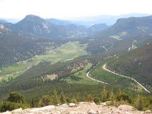 Κοιλάδα στο δύσκολο εθνικό πάρκο βουνών Στοκ εικόνα με δικαίωμα ελεύθερης χρήσης