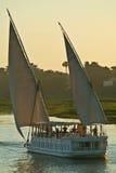 Κοιλάδα της Αιγύπτου, Νείλος, κρουαζιερόπλοιο στο Νείλο στοκ εικόνες με δικαίωμα ελεύθερης χρήσης