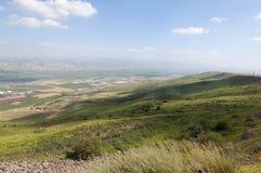 Κοιλάδα της Ιορδανίας και η θάλασσα Galilee Στοκ φωτογραφίες με δικαίωμα ελεύθερης χρήσης