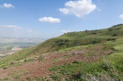 Κοιλάδα της Ιορδανίας και η θάλασσα Galilee Στοκ εικόνα με δικαίωμα ελεύθερης χρήσης