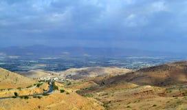 κοιλάδα της Ιορδανίας Στοκ Εικόνες