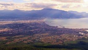 Κοιλάδα της Πομπηίας, άποψη από το Βεζούβιο. Ιταλία φιλμ μικρού μήκους