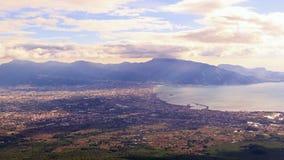 Κοιλάδα της Πομπηίας, άποψη από το Βεζούβιο Ιταλία 4 απόθεμα βίντεο
