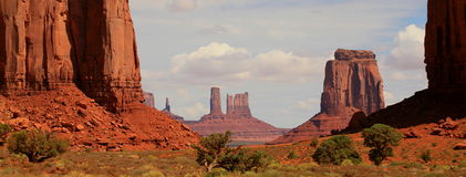 κοιλάδα του Utah μνημείων Στοκ Εικόνες