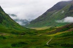 Κοιλάδα Χάιλαντς στη Σκωτία Στοκ εικόνα με δικαίωμα ελεύθερης χρήσης