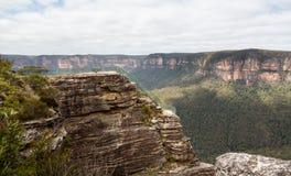 Κοιλάδα Grose στα μπλε βουνά Αυστραλία Στοκ Φωτογραφίες