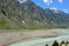 Κοιλάδα Indus σε Ladakh, Ινδία Στοκ Εικόνα