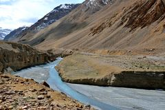 Κοιλάδα Indus σε Ladakh, Ινδία Στοκ εικόνες με δικαίωμα ελεύθερης χρήσης