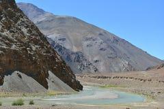 Κοιλάδα Indus σε Ladakh, Ινδία Στοκ Εικόνες