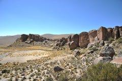 Κοιλάδα Kala-Kala η πόλη Oruro Στοκ φωτογραφία με δικαίωμα ελεύθερης χρήσης
