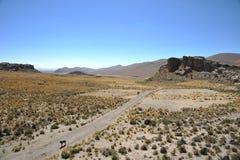 Κοιλάδα Kala-Kala η πόλη Oruro Στοκ εικόνα με δικαίωμα ελεύθερης χρήσης