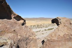 Κοιλάδα Kala-Kala η πόλη Oruro Στοκ εικόνες με δικαίωμα ελεύθερης χρήσης