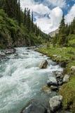 Κοιλάδα Karakol στο Κιργιστάν, βουνά Tian Shan Στοκ Εικόνες