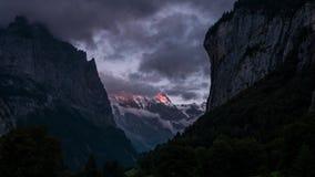 Κοιλάδα Lauterbrunnen - βίντεο χρονικού σφάλματος απόθεμα βίντεο
