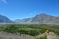 Κοιλάδα Nubra σε Ladakh, Ινδία Στοκ εικόνες με δικαίωμα ελεύθερης χρήσης