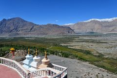 Κοιλάδα Nubra σε Ladakh, Ινδία Στοκ Εικόνες