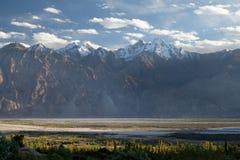 Κοιλάδα Nubra σε Ladakh, Τζαμού και Κασμίρ, Ινδία στοκ φωτογραφία με δικαίωμα ελεύθερης χρήσης