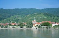 Κοιλάδα Wachau, ποταμός Δούναβη, Αυστρία Στοκ εικόνα με δικαίωμα ελεύθερης χρήσης