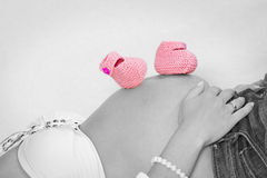 Κοιλιά μωρών στο κλειδί χρώματος Στοκ εικόνες με δικαίωμα ελεύθερης χρήσης
